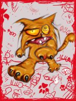 Mrrrraaains - Zombie the Cat by faultfett