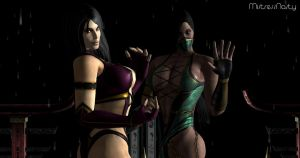 Jade and Mileena by MistressNasty