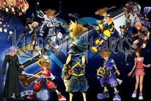Kingdom Hearts Tribute Wallpaper by xEpicOdysseYx