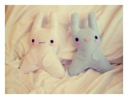 Bunny Plushies 2 by pullmeoutalive