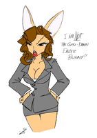 Hilary not Easter Bunny by DaiGuard78