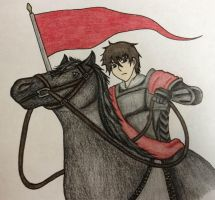 Anime Knight and Horse by PrinceKaname