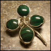 Four Leaf Clover Broach 110 by Zorias