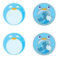 penguin stickers by pinguino
