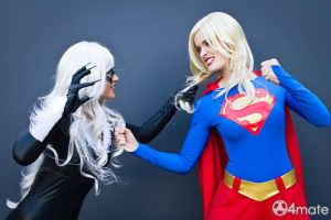 Girl cat fight! by LuceCosplay