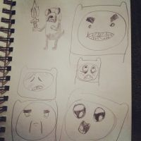 adventure time expressions by Dazeinnight