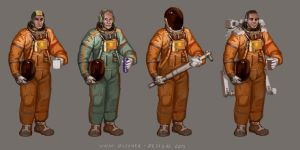 Space Suit Concept Variations by MikeDoscher
