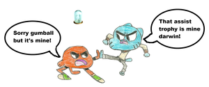 Gumball vs Darwin by WaRrior9100