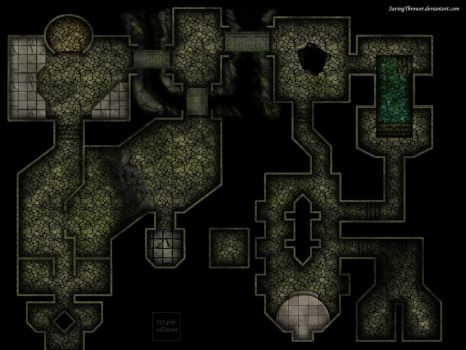 Clean dark dungeon map for online DnD / Roll20 by SavingThrower