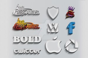 3d Text/Logo Mock-up (PSD) by retinathemes
