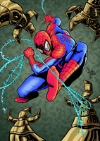 Spider Man Digital Coloring by nilw