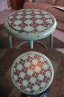 Argyle Stool by truemarmalade