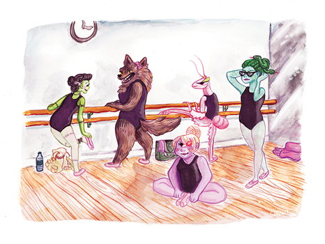 Monster Ballet Class by shaduf