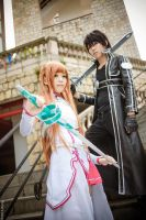 Sword Art Online - Kirito x Asuna by Bakasteam