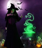 Witchy Woman by Silverwind3D