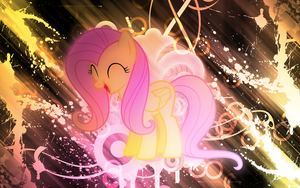 [1 Year Anniversary] Fluttershy Wallpaper by EnemyD