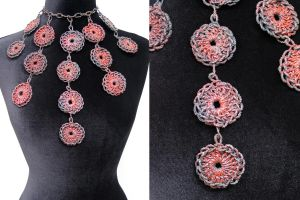 Circle Crochet Neckpiece by KatieSchutte