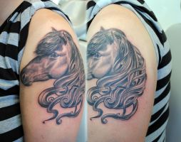 Icelandic horse tattoo by gettattoo