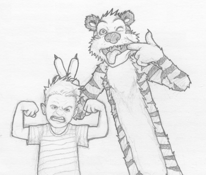 Calvin and Hobbes by b-dangerous