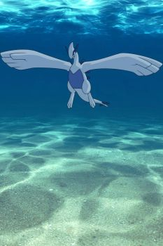 Lugia Underwater! by ryanthescooterguy