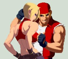 Blue Mary and Terry Bogard by juniorbunny