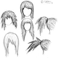 Practice Hairstyles by ebony--shadow