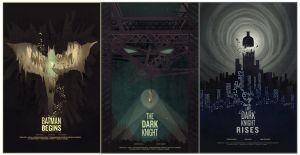 Batman movie posters by Barbeanicolas