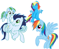 Rainbow's Family Photo by asdflove