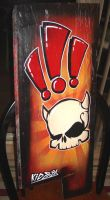 Skull on Board by kidoboy