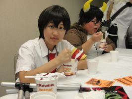 Animinneapolis 2012: Hibari and Lambo eating ramen by chouaaa