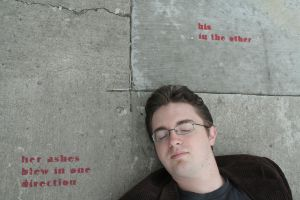 Adam Selzer With Street Poetry by MoreThanNothing