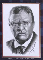 Theodore Roosevelt Pastime Portraits Sketch Card by avintagedreamer