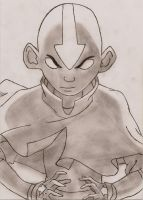 Aang with shading by OMFGBrot
