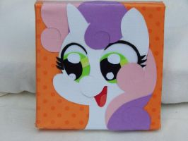 Sweetie Belle Canvas by FrogAndCog