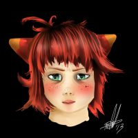 Red Haired Fox Girl by delilittle