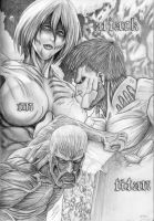Attack on Titan (Female-Armored-Colossal Titans) by CaptainDragonSlayer6