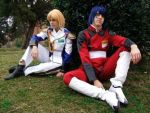 Athrun and Cagalli by MakiMike