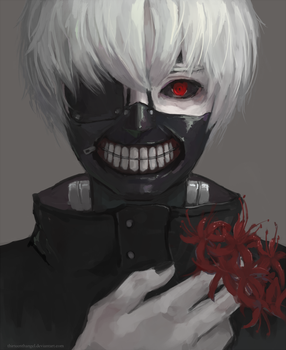 Ken Kaneki by thirteenthangel