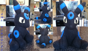 Chibi Shiny Umbreon Plushie by Ami-Plushies