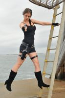 Stacey - Lara on ladder 2 by wildplaces