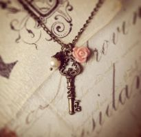 Antique Key Necklace by MegamiMoon