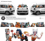 Aliens Holidays with FIAT by Futago-KawaiI