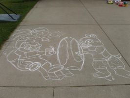 C an' D Summer chalk line art by bunbun369