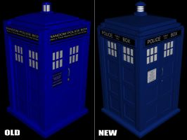 Tardis - Old and New by EUAN-THE-ECHIDHOG