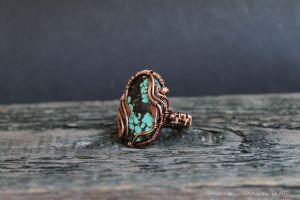 turquoise ring by Schepotkina