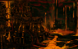 Fire Outcast speed painting by NerezaFire