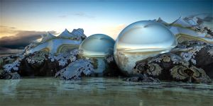 Fully enclosed aquatic ecosystems in glass balls by marijeberting