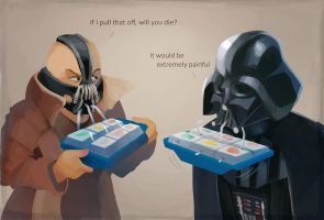 Bane and Vader by zgul-osr1113