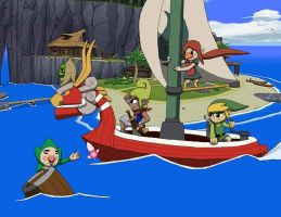 Legend of Zelda On a Boat by 626key