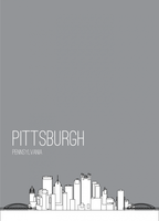 PosterVine Pittsburgh Skyline Poster by PosterVine